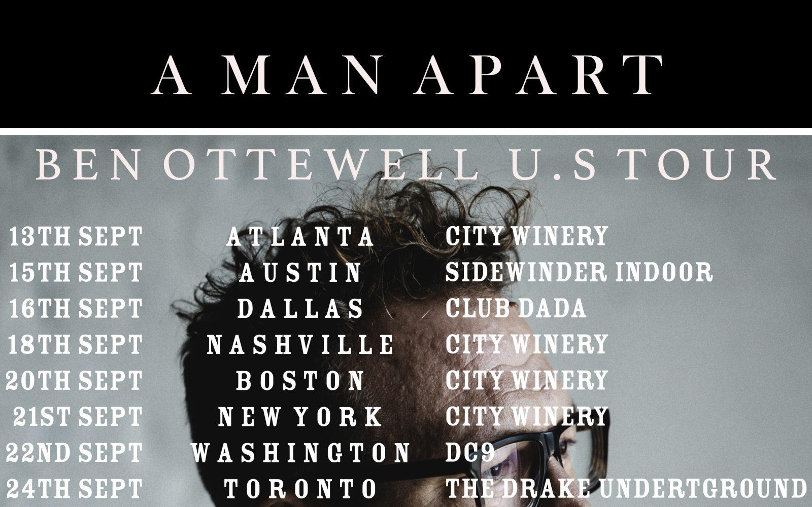 BEN OTTEWELL U.S TOUR POSTER
